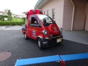 ミニ消防車体験