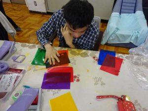 彰宏さんの絵日記No.19 ステンドグラスを作りました